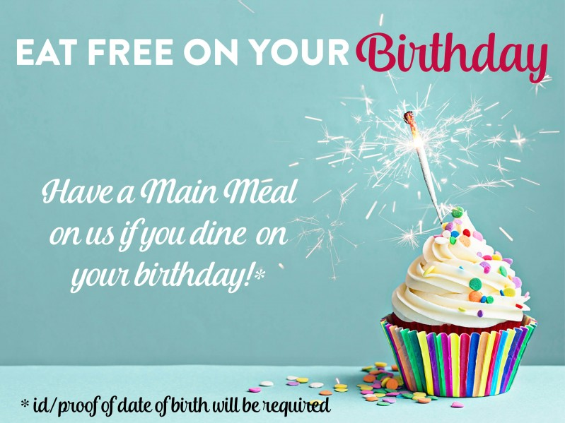 Dine For Free on Your Birthday